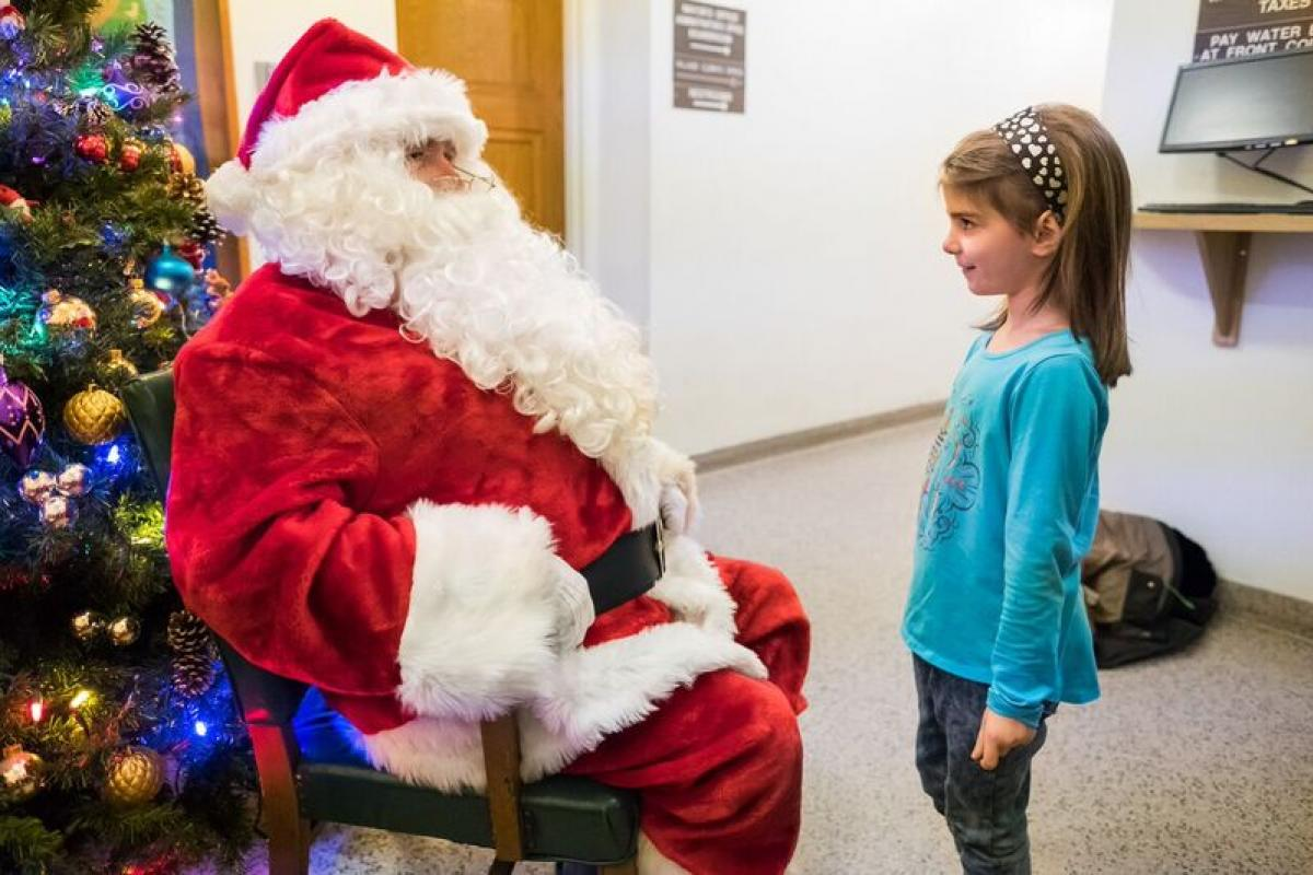 Milk & Cookies with Santa at Village Hall
