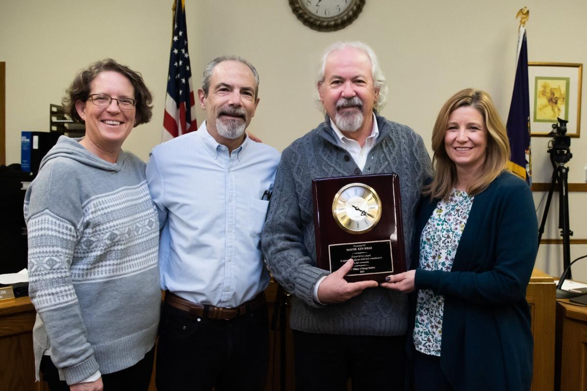 Mayor Wray 10 Year service award
