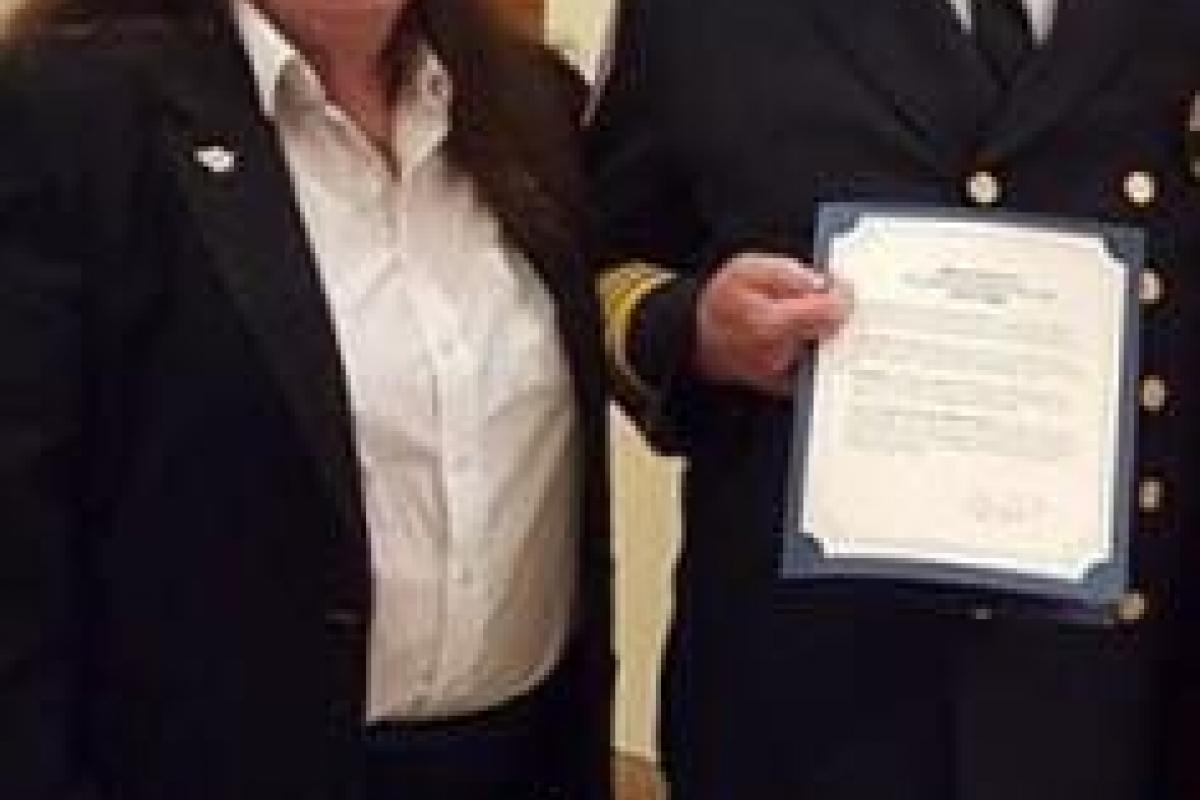 Fire Chief Hennessey is Honored for 50 Years of Active Service