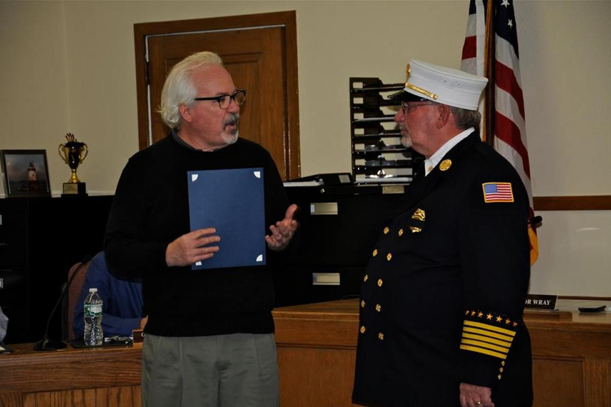 Thank You to Fire Chief Hennessey for 50 Years of Dedicated, Active Service to Our Community