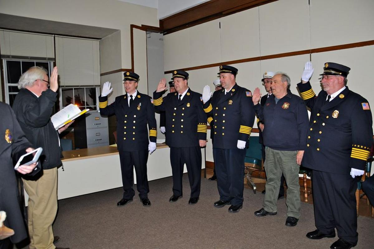 Newly Elected Fire Officials 2016-2018