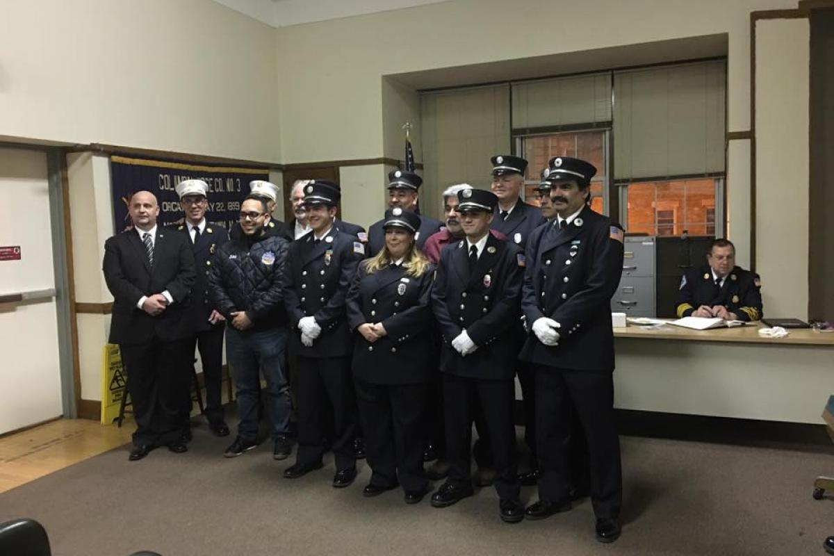 Newly Elected Fire Department Officers 2016-2018