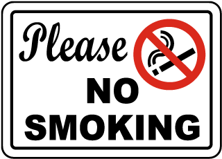 NO SMOKING IN THE PARKS
