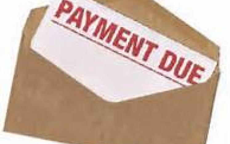 PAYMENTS DUE!  AVOID PENALTY BY PAYMENT ON TIME