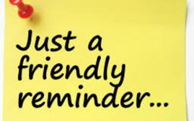 Reminders!!
