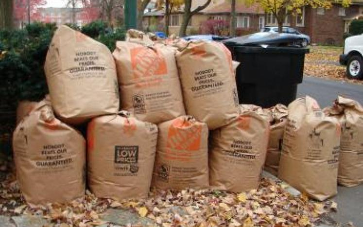 Please continue to bag your leaves