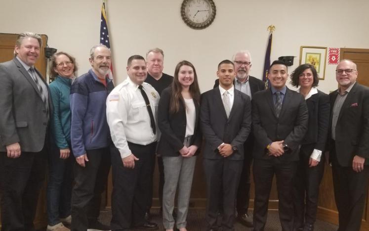 2020 NEW POLICE OFFICERS, MELISSA OJITO, JULIO SOSA AND LUIS LLIVISACA