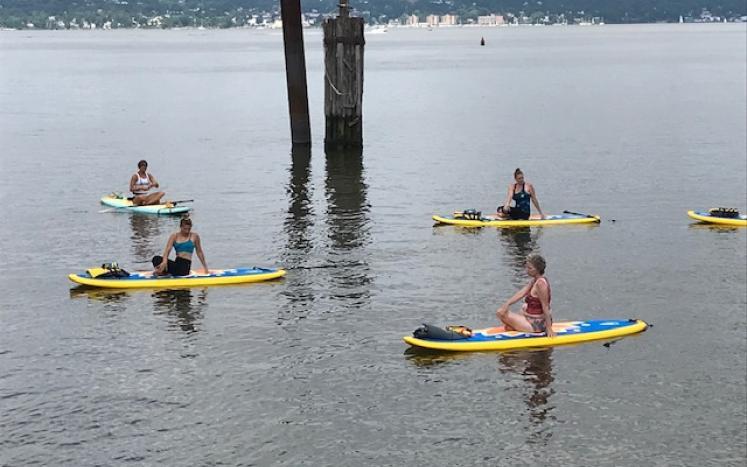 Paddleboard Yoga on the Hudson River